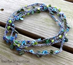 75 inches long and 145 beads on this diy crocheted necklace i