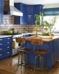 Landmark Kitchen Cabinets by Blue Kitchen Cabinets Interiors By Color 7 Interior Decorating