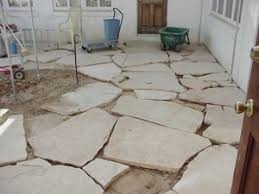 Laying Patio Slabs Flagstone Patio Mortared Vs Gravel Sand