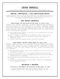 Sample Resume For Mechanical Technician by Hvac Resume Resume Cv Cover Letter