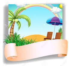 Kids Beach Chair With Umbrella 3 013 Empty Beach Stock Vector Illustration And Royalty Free Empty