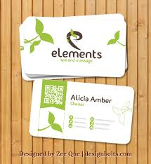 Business Card Eps Template Free Beautiful Business Card Template For Spa U0026 Massage Company