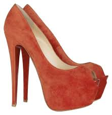 christian louboutin red suede peep toe highness 160 pumps size us