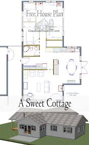 free house plan a sweet little cottage that smartly utilizes its