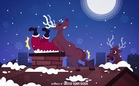 funny santa joke stuck on chimney image vector download