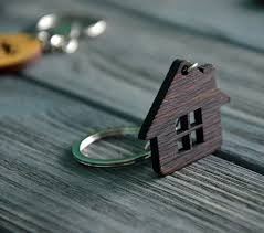 house home key chain custom engraved wooden keychain home key