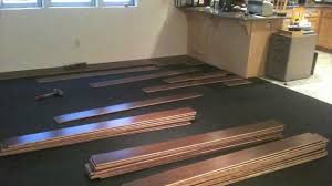 Laminate Flooring Over Concrete Slab Remaflooring Bamboo Installation Youtube