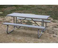 aluminum portable picnic table 6 ft rectangular aluminum picnic table 1 5 8 welded frame