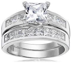 4 carat cubic zirconia engagement rings 1 carat radiant cz sterling silver 925 wedding
