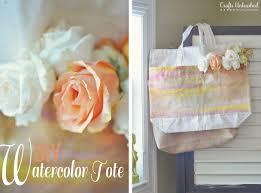 canvas tote bag tutorial diy watercolor bag for spring