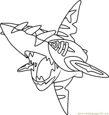 pokemon coloring pages wailord mega sharpedo pokemon coloring page free pokémon coloring pages