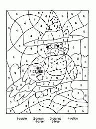 excellent color by number coloring page pictures inspiration