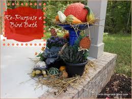 Bird Bath Decorating Ideas Autumn Porch Contest Decorating For Autumn Halloween Porch
