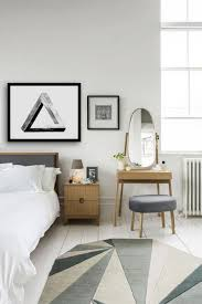 gorgeous white scandinavian bedroom design presenting small wood