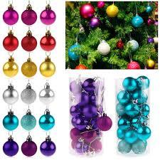 24pcs christmas tree balls decorations baubles wedding xmas party