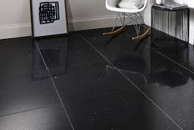 Black Slate Laminate Flooring Quartz Stone Midnight Black Quartz Floor Tiles From Tile Mountain