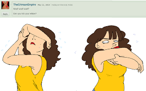 ask meme response 5 elbow licking by alwaysconfuzzled on deviantart