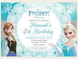 birthday invitation card frozen birthday invitation template