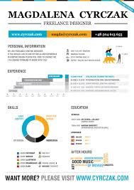 resume for graphic designer sample 10 examples of creative resume designs that can get you hired resume of magdalena cyrczak