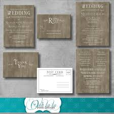 wedding invitations with response cards rustic elegant wedding invitation response card wedding