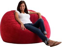 large comfort suede bean bag lounger in your choice of color the fuf 4 ft large comfort suede bean bag lounger will fit the decor of your home like a