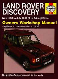 land rover discovery diesel service and repair manual 1998 to
