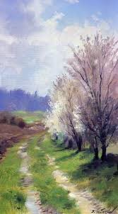 Impressionist Landscape Painting by Peaceful Stream Impressionist Landscape Oil Painting Karen