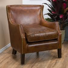 Leather Club Chair Weston Home Yorkshire Leather Club Chair Accent Chairs At Hayneedle