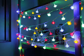 christmas led rose shape light string color changeable curtain