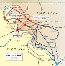 Map Of Usa In 1861 by 1862 Sept 3 17 Antietam Campaign Map 1861 1877 The Civil