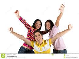 happy friends stock photo image of classmates