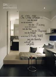 Wall Quotes For Living Room by Funlife New 78x92cm House Rule 5 We Do Real Living Room Vinyl Wall
