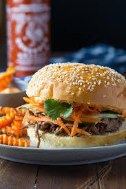 sriracha mayo slow cooker beef sandwich with sriracha mayo