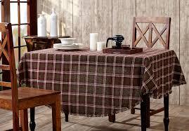 jackson burlap plaid tablecloth 70