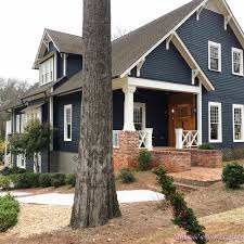 Craftsman Home Exterior Craftsman Home House Dark Blue Gray Paint Color