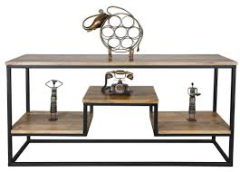 industrial theme contemporary industrial theme coffee table with rustic charm