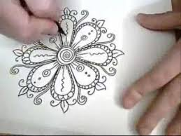 Flowers Designs For Drawing Flowers Are Fun Ink Drawing Youtube
