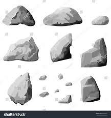 set stones rock elements different shapes stock vector 404960242
