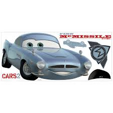 fin mcmissile cars 2 finn mcmissile removable wall decal wall2wall