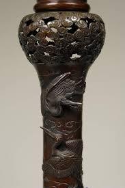 19th century antique japanese meiji bronze floor lamp for sale at