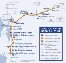 Sacramento Ca Zip Code Map by Capital Corridor Train Route Map For Northern California