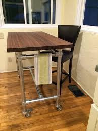 Butcher Block Rolling Kitchen Island Helps You Entertain Your - Rolling kitchen island table