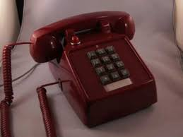 Flashing Light Ringtone Cortelco 2500 Red Desk Phone With Ringer Light Youtube
