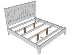 King Size Platform Bed Design Plans by Diy King Size Platform Bed You U0027ll Need Additional Support For A