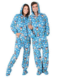 winter hoodie one hooded footed pajamas