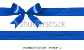 white blue ribbon shiny navy blue ribbon bow stock vector hd royalty free