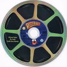 rabbit dvd who framed roger rabbit 1988 r1 dvd cd label dvd