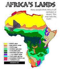 africa map landforms free printable maps map of climate of africa printfree