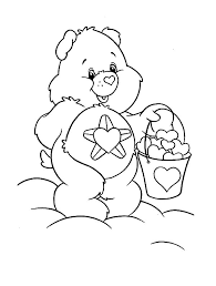 care bears bucket heart coloring pages place