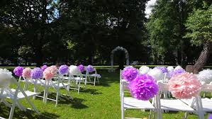 How To Decorate Wedding Arch Wedding Arch Decorated With Flowers In The Park For The Ceremony